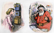 Nast Metal Prints - Thomas Nast: Santa Claus Metal Print by Granger