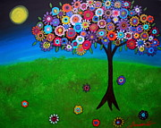 Special Occasion Painting Posters - Tree Of Life Poster by Pristine Cartera Turkus