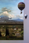 Louvre Framed Prints - 200 Years of Ballooning Framed Print by Jane Whiting Chrzanoska