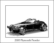 Pen And Ink Framed Prints Drawings Posters - 2000 Plymouth Prowler Poster by Jack Pumphrey