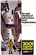 1968 Movies Posters - 2001 A Space Odyssey, 1968 Poster by Everett