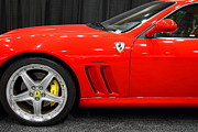 Italian Cars Framed Prints - 2003 Ferrari 575M . 7D9389 Framed Print by Wingsdomain Art and Photography
