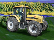 Combine Paintings - 2004 Challenger MT525B Farm Tractor by Brad Burns
