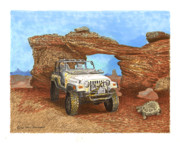 National Drawings Prints - 2005 Jeep Rubicon 4 wheeler Print by Jack Pumphrey