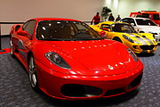 Red Cars Photo Framed Prints - 2006 Ferrari F430 Spider . 7D9413 Framed Print by Wingsdomain Art and Photography