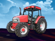 Combine Paintings - 2006 McCormick CX95 Farm Tractor by Brad Burns