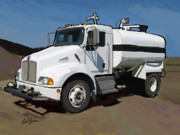 For Contractors Paintings - 2007 Kenworth T300 Water Truck by Brad Burns