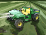 Combine Paintings - 2008 John Deere TS Gator Utility Vehicle by Brad Burns