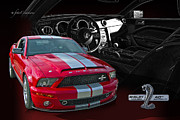 Power Digital Art - 2008 Shelby Cobra Mustang - 40th Anniversary by Roger Beltz