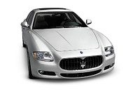 Muscle Car Prints - 2009 Maserati Quattroporte S Print by Oleksiy Maksymenko