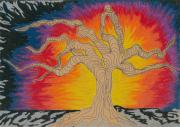 Fantasy Tree Pastels - 2009 by Rachel Zuniga