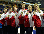 Scotties Photos - 2009 Scotties Gold Medal Winners by Lawrence Christopher