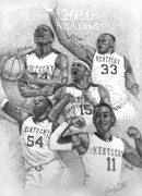 Basketball Drawings - 2010 NBA Draft by Tanya Crum