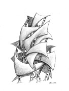 Sails Drawings - 20100926 by William Fennell