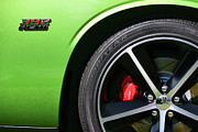 Flake Prints - 2011 Dodge Challenger SRT8 392 Hemi Green with Envy Print by Gordon Dean II