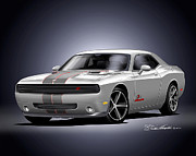 Challenger Drawings - 2011 Dodge Challenger Stinger Edition by Danny Whitfield