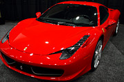 Red Cars Photo Framed Prints - 2011 Ferrari 458 Italia . 7D9397 Framed Print by Wingsdomain Art and Photography