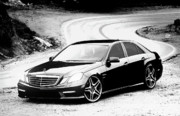 E Black Framed Prints - 2011 Mercedes-Benz E-Class E350 Framed Print by Alex Roussinov