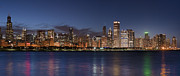 Donald Prints - 2012 Chicago Skyline Print by Donald Schwartz