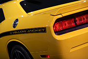 Hemi Digital Art Posters - 2012 Dodge Challenger SRT8 392 Yellow Jacket Poster by Gordon Dean II
