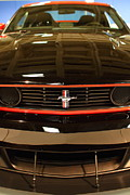 Red In Black Prints - 2012 Ford Mustang Boss 302 . 7D9656 Print by Wingsdomain Art and Photography