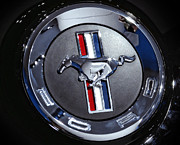 Black And White Photos Originals - 2012 Ford Mustang Trunk Emblem by Gordon Dean II