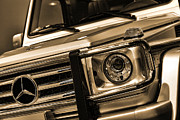 Sepia Digital Art Originals - 2012 Mercedes Benz G-Class by Gordon Dean II
