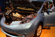 Transportation Art - 2012 Nissan Leaf Electric Car . 7D9368 by Wingsdomain Art and Photography