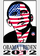 Election Digital Art Posters - 2012 Obama Election Art Poster by Stanley Slaughter Jr