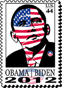 Stanley Slaughter Jr - 2012 Obama Election Stamp