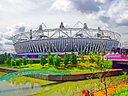 Stadium Digital Art - 2012 Olympic Stadium by Peter Allen