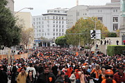 San Francisco Giants Photo Prints - 2012 San Francisco Giants World Series Champions Parade Crowd - DPP0001 Print by Wingsdomain Art and Photography