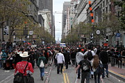 Market Street Photos - 2012 San Francisco Giants World Series Champions Parade Crowd - DPP0002 by Wingsdomain Art and Photography