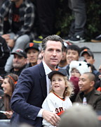 2012 World Series Champions Acrylic Prints - 2012 San Francisco Giants World Series Champions Parade - Gavin Newsom - DPP0005 Acrylic Print by Wingsdomain Art and Photography