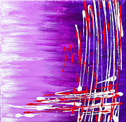 Purple Abstract Drawing Framed Prints - 207917 Framed Print by Svetlana Sewell