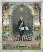 Masonic Framed Prints - George Washington Framed Print by Granger