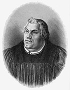 15th Century Prints - Martin Luther (1483-1546) Print by Granger