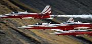 Suisse Framed Prints - Patrouille Suisse Framed Print by Angel  Tarantella