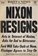 Resignation Prints - Richard Nixon (1913-1994) Print by Granger