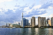 Toronto Photo Prints - Toronto skyline Print by Elena Elisseeva