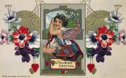 Putto Posters - Valentines Day Card Poster by Granger