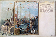 Colonial Man Framed Prints - Boston Tea Party, 1773 Framed Print by Granger