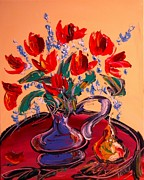 Europe Posters Paintings - Tulips by Mark Kazav