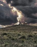 Teepee Prints - 2217 Print by Peter Holme III