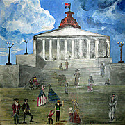 Revolutionary War Painting Originals - 225 by Alexandra White