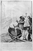 Colonial Man Prints - Boston Tea Party, 1773 Print by Granger
