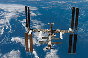 Telecommunications Prints - International Space Station Print by Stocktrek Images