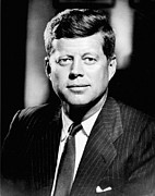 Mid-20th Framed Prints - John F. Kennedy (1917-1963) Framed Print by Granger
