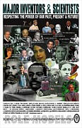 Obama Mixed Media Metal Prints - Major Inventors and Scientists Metal Print by Purpose Publishing