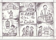 Save The Girl Child Drawings - 23 by Shripal Mehta